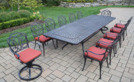 Oakland Living Berkley 13 Piece Outdoor Patio Dining Set with Cushions