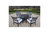 Oakland Living Elite Stone Art 5 Piece Outdoor Patio Chat Set with Cushions