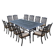 Oakland Living Morocco Aluminum 13 Piece Outdoor Patio Dining Set with Cushions