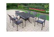 Oakland Living Rose 7 Piece Outdoor Patio Dining Set
