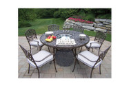Oakland Living Mississippi Outdoor Dining Set with Cooler Insert and Cushions