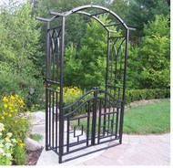 Oakland Living Outdoor Royal Steel Arbor with Gate