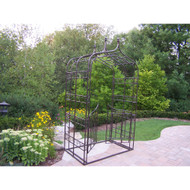 Oakland Living Outdoor Gothic Iron Arbor with Gate