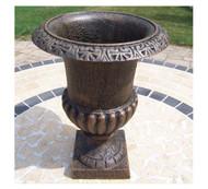 Oakland Living Outdoor Roman Cast Iron Urn Planter