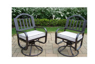 Oakland Living Rochester Metal Outdoor Rocking Chair with Beige Cushion (Set of 2)