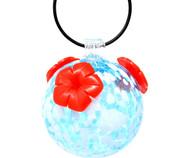 Gift Essentials Blue & White Glass Hummingbird Feeder GEHF006
