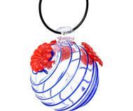 Gift Essentials Blue Swirls Glass Hummingbird Feeder GEHF008