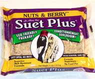 Wildlife Sciences Nuts and Berry Blend 11 oz Suet Cake, 12 Pack WSC202