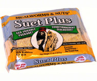 Wildlife Sciences Mealworms and Nuts Blend 11 oz Suet Cake, 12 Pack WSC212