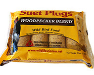 Wildlife Sciences Woodpecker Blend Suet Plug 11 oz, 12 Pack WSC786