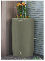 Impressions Bali 50-Gallon Rain Saver Barrel with Planter Top in Desert Sand