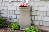 Impressions Capri 50-Gallon Rain Saver Barrel with Planter Top in Sandstone