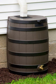Good Ideas Rain Wizard Rain Barrel with Darkened Ribs 50-Gallon, Assorted Colors