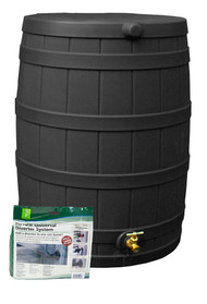 Good Ideas Rain Wizard Rain Barrel 50-Gallon Starter Kit, Assorted Colors