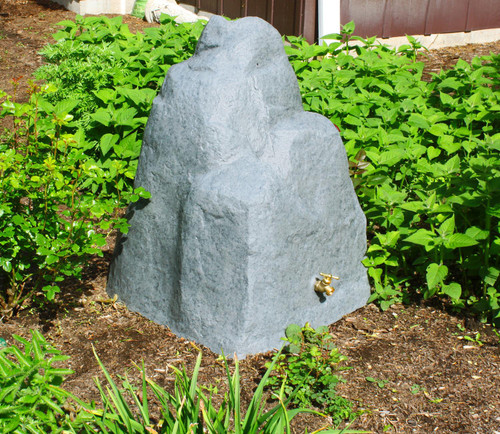 Good Ideas Rain Wizard Rock 42-Gallon Rain Barrel, Assorted Colors