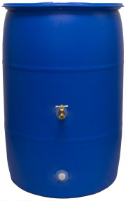 Good Ideas RB55-BLUE Big Blue Recycled Rain Barrel, 55 Gallon