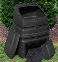 Good Ideas EZCB-BLK 12-Cubic Foot Compost Wizard Standing Bin