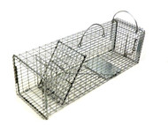 Tomahawk Live Trap 603.5F - 16 Gauge Flush Mount Squirrel, Rat, Rodent Trap with Rear Access Door and Tight Mesh Pattern