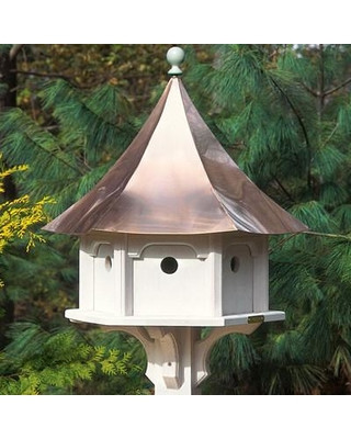 Lazy Hill Farm Designs Carousel Bird House with Bright Copper Roof 43402