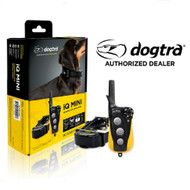 The new Dogtra iQ Mini is designed for dog's as small as 7 pounds.   The Dogtra iQ Mini features precision correction technology (level 0 to 100), which can be easily adjusted with the transmitter's smooth rheostat dial. And with a 100% waterproof/submersible receiver collar and water-resistant hand-held remote transmitter, you can train your dog anywhere!  Included with the Dogtra iQ Mini small dog trainer is a convenient battery charger.  You can  recharges batteries in as little as 2 hours.