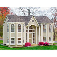 LITTLE COTTAGE COMPANY 10 FT. X 16 FT. GRAND PORTICO MANSION WOOD PLAYHOUSE DIY KIT