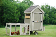 LITTLE COTTAGE CO. COLONIAL GABLE RUN CHICKEN COOP 4X4 PANELIZED KIT WITH FLOOR
