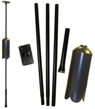 Erva Squirrel Proof Bird Feeder Pole and Baffle Kit With Twist In Ground Auger FP5SWX (FP5SWX)