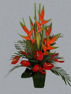 Note that this choice will come wrapped in paper and not in a pot. If you would like your flowers presented in a pot there is the option of this as Heliconias and Anthirium in a pot.