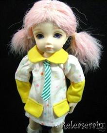 Dollfie Yo-SD Outfit Yellow/Rainbow Dots Tie Dress