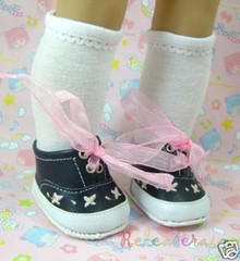 American Girl Doll Shoes Dark Blue/Pink Sneakers #S19