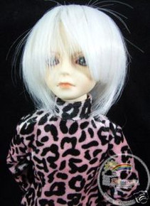 Milky White 7-8 Wig #4051-1001 for MSD BJD Dollfie Ellowyne Wilde Dolls