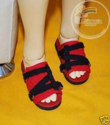 Black Straps Red Sandals Shoes for SD13 Boy Rainy Girl BJD Dollfie Dolls