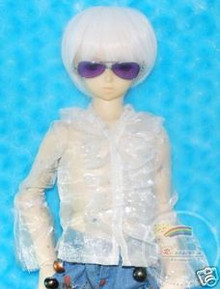 Dollfie SD Sunglasses Silver Frame Purple Lens #RS07