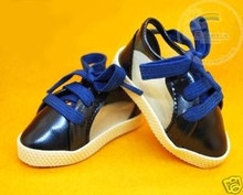Doll Shoes Clear/Patent Dark Blue Lace-Up Sneakers For 1/4 MSD BJD Dollfie Dolls