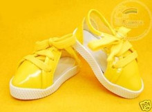 Doll Shoes Clear/Patent Yellow Lace-Up Sneakers For 1/4 MSD BJD Dollfie Dolls