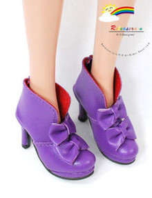 "16"" Tonner Tyler/Gene Shoes Bows Ankle Boots Purple"