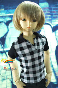 Dollfie SD Copper Blond 8-9 Heat Resistant Wig #D3046