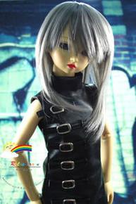 Dollfie SD Grey Layer 8-9 Heat Resistant Wig #D3093