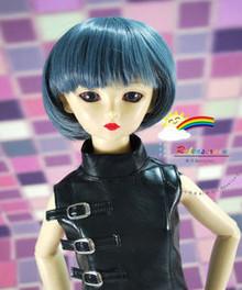 Dollfie SD Dark Grey 8-9 Heat Resistant Wig #D3177