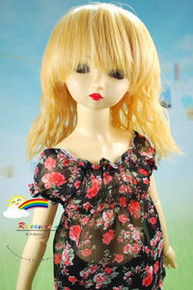Dollfie SD Honey/L Blond 8-9 Heat Resistant Wig #D3225