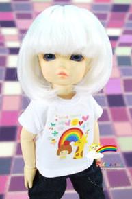 Dollfie Yo-SD Milk White 6-7 Heat Resistant Wig #D6016N