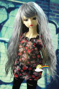 Dollfie SD Grey Wavy Curl 8-9 Heat Resistant Wig #D3041