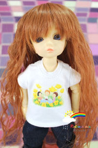 Dollfie Yo-SD Outfit White Short-Sleeve Tee Picnic