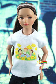 """12"""" Tonner Marley Doll Outfit White T-Shirt Picnic"""
