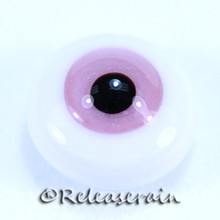 BJD Dollfie Doll Glass Eyes Pink Cream 14mm #PP06