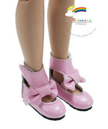 "Pink Mary Jane Bow Boots Shoes for 12"" Tonner Marley"