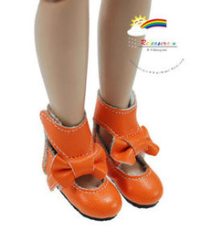 "Orange Mary Jane Bow Boots Shoes for 12"" Tonner Marley"