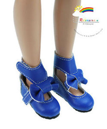 "R Blue Mary Jane Bow Boots Shoes for 12"" Tonner Marley"