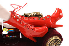 "16"" Tonner Tyler/Antoinette Shoes Lace-Up Boots Pt Red"