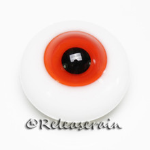 BJD Dollfie Doll Glass Eyes Reddish Orange 12mm #JC08